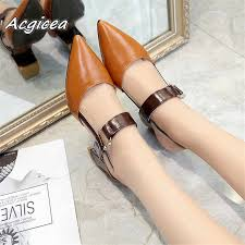 2019 <b>spring</b> Summer <b>new hollow coarse</b> sandals high-heeled ...
