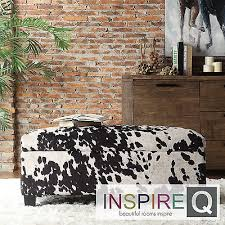 amazoncom ottoman black cow hide fabric storage bench foot rest coffee or cocktail table great in any living room master bedroom parlor sitting rooms bedroom ottoman bench inspiring