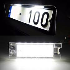 new 2pcs 18 smd led xenon license plate light car styling for toyota camry 2012 2015