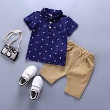 <b>Summer Baby</b> Boys Polo Shirts Shorts Cute Anchor Printing <b>Cotton</b> ...