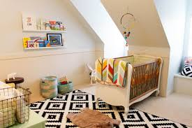 f appealing unisex baby room ideas with white lacquer finish walnut baby crib on cool black white patterned rugs 4752x3168 bedroom awesome black white