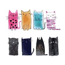 FineInno 2 Packs DIY <b>Iron-on Transfers</b> Cute <b>Cat</b> Animal <b>Patches</b>