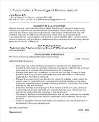 senior administrative assistant chronological resume resume examples executive assistant