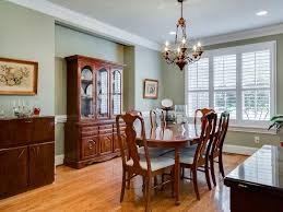 Dining Room Chair Rail Traditional Dining Room With Hardwood Floors Ampamp Crown Molding