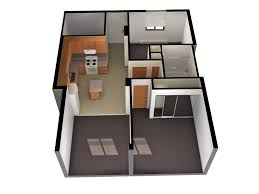 Small  Bedroom House Plans And Designs - Two bedroomed house plans