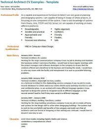 technical architect cv example   model   pinterest   technical    technical architect cv example