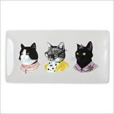 <b>Berkley</b> Bestiary <b>Cat</b> Portraits Rectangle Porcelain Tray: Galison ...