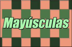 Resultado de imagen para mayuscula