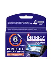 <b>Deonica</b> Сменные <b>кассеты</b> для бритья 6 лезвий FOR <b>MEN</b>, 4 шт ...