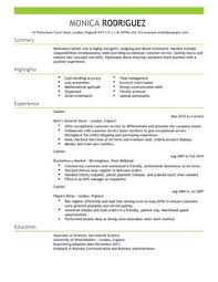 Cashier CV Example for Sales   LiveCareer LiveCareer All CV     s and Cover Letters are downloadable as Adobe PDF  MS Word Doc  Rich Text  Plain Text  and Web Page HTML Formats  Click to Enlarge Image