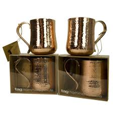 home decor plate x: copper moscow mule mugs set of