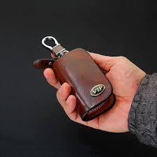 <b>SNCN Leather Car Key</b> Case Cover Key Wallet Bag Keychain ...