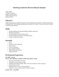 resume examples  examples of customer service resumes customer        resume examples  banking customer service resume sample for objective with skills ant strength  examples