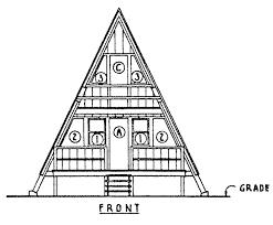 A Frame House  carldrogo coma frame cabin plan o