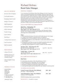 Retail Sales Manager resume     Dayjob