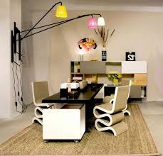 modern home office with wall lamp ideas for attractive look chic attractive home office