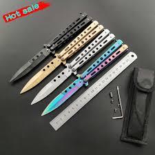 Stainless steel <b>Karambit folding Knife</b> butterfly in knife <b>practice</b> ...
