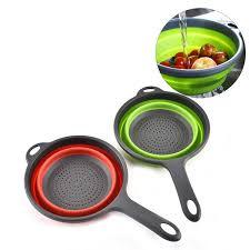 <b>1pc</b> Foldable <b>Silicone</b> Colander <b>Fruit Vegetable</b> Washing Basket ...