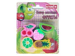 <b>Ластики Action</b>!, <b>фигурные</b> Фрукты (5 шт.) купить в детском ...