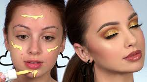 GOLD Smokey <b>Eye Makeup</b> Tutorial | Full <b>Face</b> of First Impressions ...
