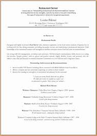 good restaurant resume invoice template restaurant server resume template great resume templates
