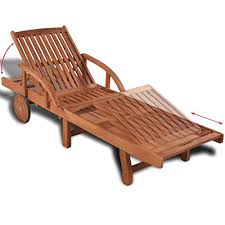 Tidyard <b>Sunlounger Solid Acacia</b> Wood Out- Buy Online in Bahamas ...