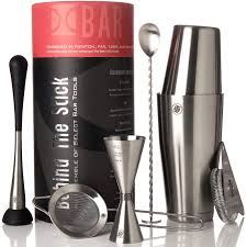 Boston Cocktail Shaker <b>Set</b> I <b>Bar</b> tools, <b>7 Piece</b> Barware Kit - 2 Piece ...