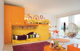 themed kids room designs cool yellow:   yellow orange kids room