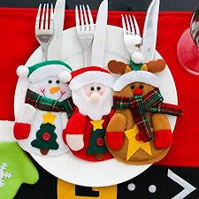 Flatware Organizers Home & Kitchen <b>Christmas Decor Santa Claus</b> ...