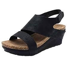 Stylish Women <b>Comfortable</b> Platform Wedges Open Toe Adjustable ...