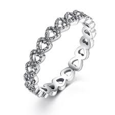 WOSTU Hot Sale <b>925 Sterling</b> Silver <b>9 Styles</b> Stackable Party Finger ...