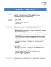 resume examples for firefighter service resume resume examples for firefighter resume samples sample resume examples firefighter resume samplestemplates and tips onlineresumebuilder