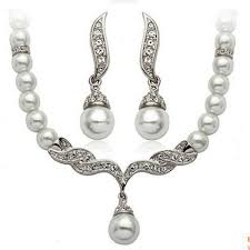 Pearl Jewelry Necklace Set Party Wedding Banquet Accessories ...