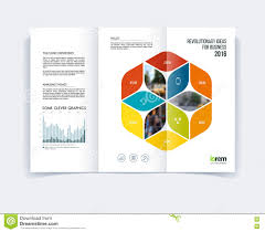 brochure flyer design layout template digital marketing tri fold brochure template layout cover design flyer in a4 wit stock image