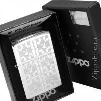 Zippo 28624 Playboy Bunny <b>Triangles</b>, <b>Зажигалка Зиппо</b> с узором в ...