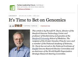 the tree of life overselling genomics award  ron davis  overselling genomics award  ron davis amp forbes for pr presented as quotessayquot
