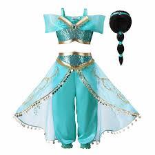 Disney Store Aladdin Princess Jasmine Costume Dress Shoes Girls ...