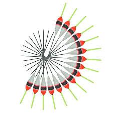 <b>Topline Tackle 10pcs</b> Carp Fishing Floats Set Buoy Bobber Stick For ...