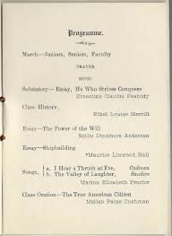 graduation program of yarmouth high school at yarmouth maine 1915 graduation program of yarmouth high school at yarmouth maine