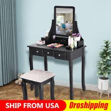 <b>Modern Vanity</b> Makeup <b>Dressing Table</b> Set Concise 5 Drawer ...