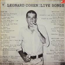 <b>Leonard Cohen</b> - <b>Live</b> Songs | Releases | Discogs