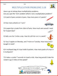 Multiplication Word Problem Worksheets 3rd Grade3rd grade math word problems multiplication problems 3 1b