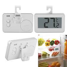 Fridge Freezer <b>Digital LCD Waterproof</b> Thermometer Hanging Hook ...