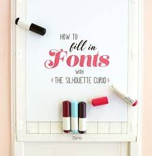 <b>Silhouette Curio</b> Tutorial: Easily Fill in Fonts in 2020 | Silhouette ...