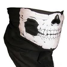 <b>Bicycle Ski Skull</b> Half Face <b>Mask</b> Ghost Scarf <b>Bike</b> Biker Neck ...