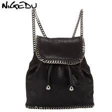 <b>2019 NIGEDU</b> Drand Design Weaving Chain Backpack Women ...