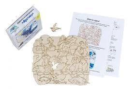 <b>Деревянная игрушка МУМ</b> мозаика-раскраска Арктика ...