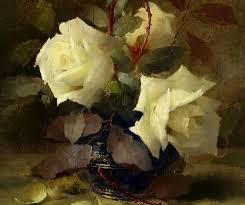 Frans Mortelmans White <b>Roses</b> 19th century