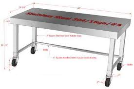 stainless kitchen work table: stainless steel work tables work table stainless steel work tables
