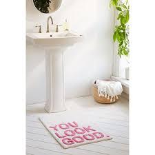 cotton bathroom rugs toftbo bathmat beige